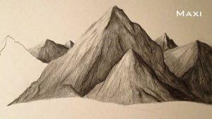 Dibuja Montanas Paso a Paso Fácil