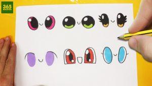 Dibujar Ojos Kawaii Paso a Paso Fácil
