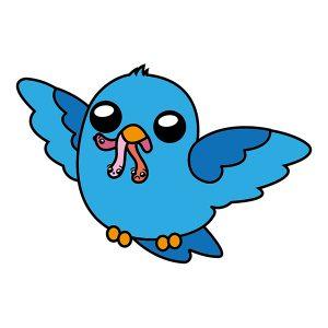 Cómo Dibujar Pájaro Kawaii Fácil Paso a Paso
