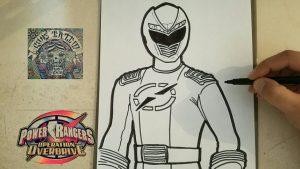 Dibuja Power Rangers Fácil Paso a Paso