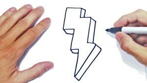 Cómo Dibuja Rayos Fácil Paso a Paso