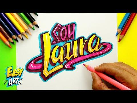 Dibujar Tu Nombre Estilo Soy Luna Fácil Paso a Paso