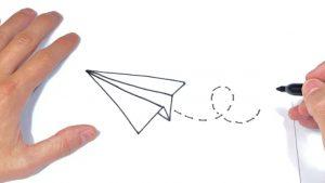 Dibujar Un Avión De Papel Paso a Paso Fácil