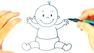 Dibuja Un Bebé Recién Nacido Fácil Paso a Paso