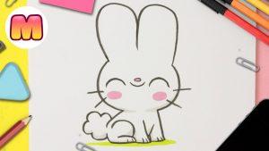 Cómo Dibujar Un Conejo Kawaii Fácil Paso a Paso