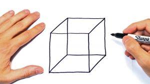 Cómo Dibuja Un Cubo Paso a Paso Fácil