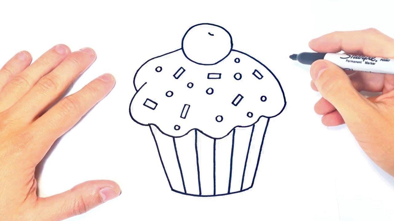 Dibuja Un Cupcake Paso a Paso Fácil