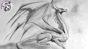 Cómo Dibujar Un Dragón A Lápiz Fácil Paso a Paso