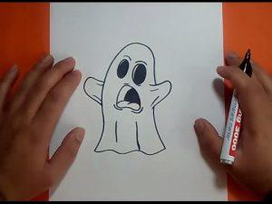 Cómo Dibujar Un Fantasma Fácil Paso a Paso