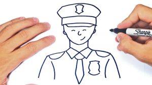 Cómo Dibuja Un Policía Paso a Paso Fácil