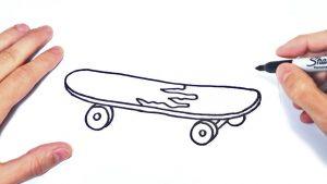 Dibuja Un Skate Fácil Paso a Paso