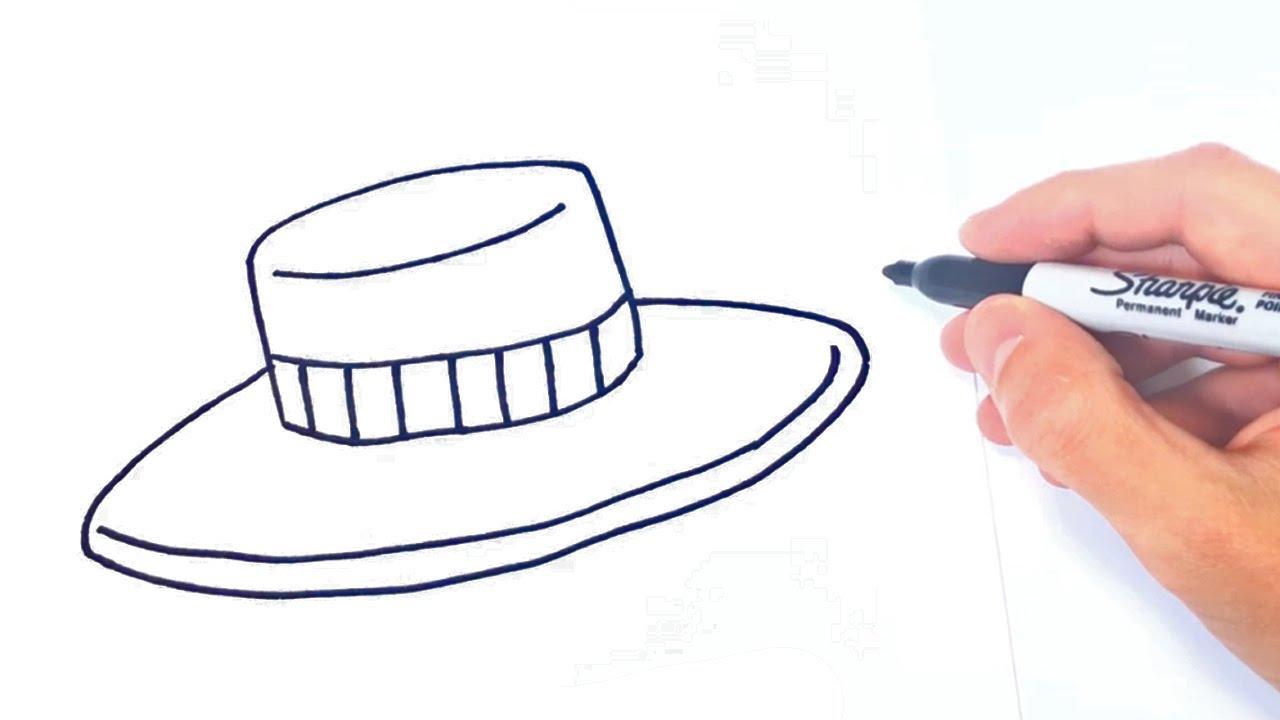 Cómo Dibujar Un Sombrero Paso a Paso Fácil