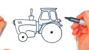 Dibujar Un Tractor Fácil Paso a Paso