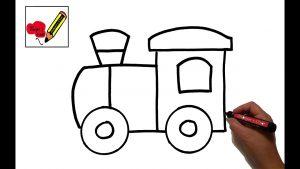 Dibujar Un Tren Paso a Paso Fácil