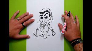 Cómo Dibujar Un Vampiro Fácil Paso a Paso