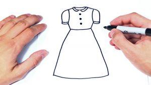 Cómo Dibuja Un Vestido Paso a Paso Fácil