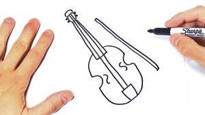 Dibujar Un Violín Paso a Paso Fácil