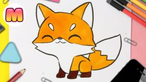 Cómo Dibujar Un Zorro Kawaii Paso a Paso Fácil