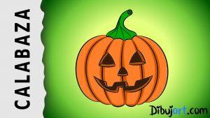 Cómo Dibujar Una Calabaza Para Halloween Fácil Paso a Paso