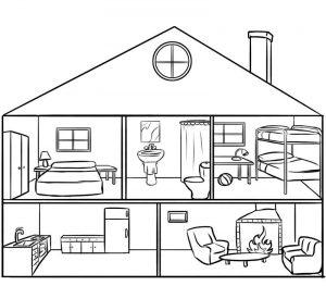Dibuja Una Casa Por Dentro Paso a Paso Fácil