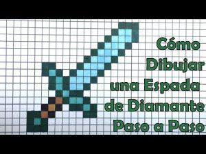 Dibujar Una Espada De Minecraft Paso a Paso Fácil