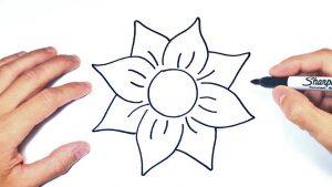 Cómo Dibuja Una Flor Paso a Paso Fácil