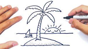Cómo Dibujar Una Isla Fácil Paso a Paso