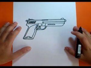 Dibujar Una Pistola Paso a Paso Fácil