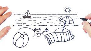 Dibuja Una Playa Paso a Paso Fácil