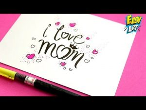 Cómo Dibujar Una Postal Para El Día De La Madre Paso a Paso Fácil