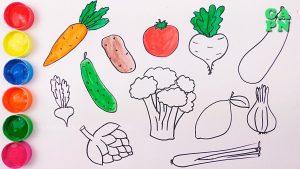 Dibuja Verduras Fácil Paso a Paso