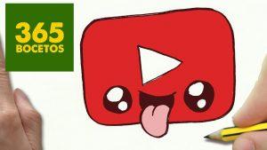 Dibujar Youtube Fácil Paso a Paso