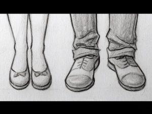 Cómo Dibujar Zapatillas De Frente Fácil Paso a Paso