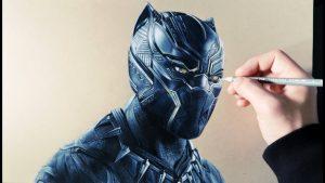 Cómo Dibujar A Black Panther Realista Paso a Paso Fácil