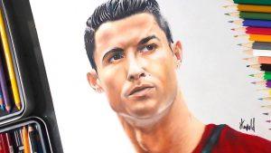 Dibuja A Cristiano Ronaldo Paso a Paso Fácil