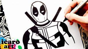 Dibuja A Deadpool Paso a Paso Fácil