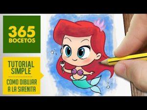 Cómo Dibujar A La Princesa Ariel De La Sirenita Fácil Paso a Paso