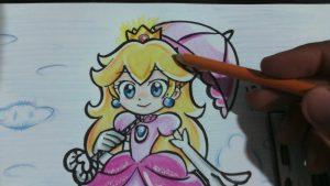 Cómo Dibuja A La Princesa Peach De Mario Bros Fácil Paso a Paso
