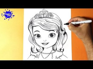 Cómo Dibujar A La Princesa Sofia De Disney Fácil Paso a Paso