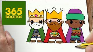 Dibuja A Los Reyes Magos Para Navidad Paso a Paso Fácil