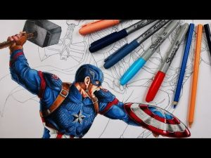 Cómo Dibujar A Los Vengadores Fácil Paso a Paso