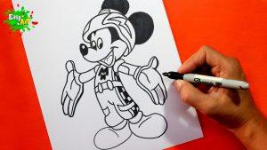 Cómo Dibuja A Mickey De Aventuras Sobre Ruedas Paso a Paso Fácil