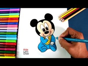 Cómo Dibuja A Mickey Mouse Bebé Fácil Paso a Paso