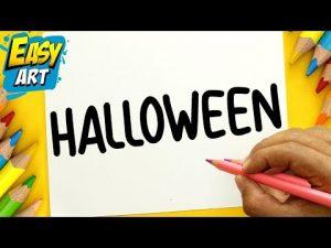 Dibuja A Partir De La Palabra Halloween Paso a Paso Fácil
