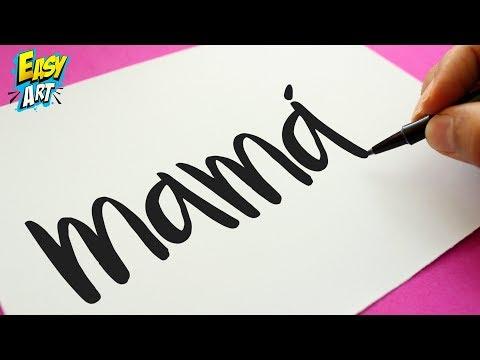 Cómo Dibuja A Partir De La Palabra Mama Paso a Paso Fácil