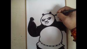 Dibuja A Po De Kung Fu Panda Fácil Paso a Paso