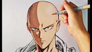 Dibujar A Saitama De One Punch Man Fácil Paso a Paso