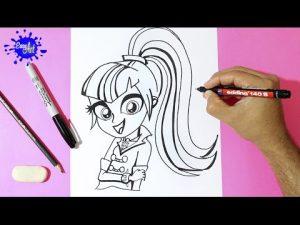 Cómo Dibuja A Sonata Dusk De My Little Pony Fácil Paso a Paso