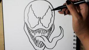 Cómo Dibuja A Venom Paso a Paso Fácil