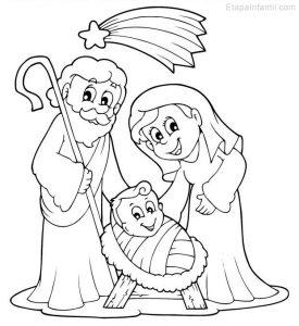 Cómo Dibujar Al Niño Jesus Con Maria Y Jose Para Navidad Paso a Paso Fácil